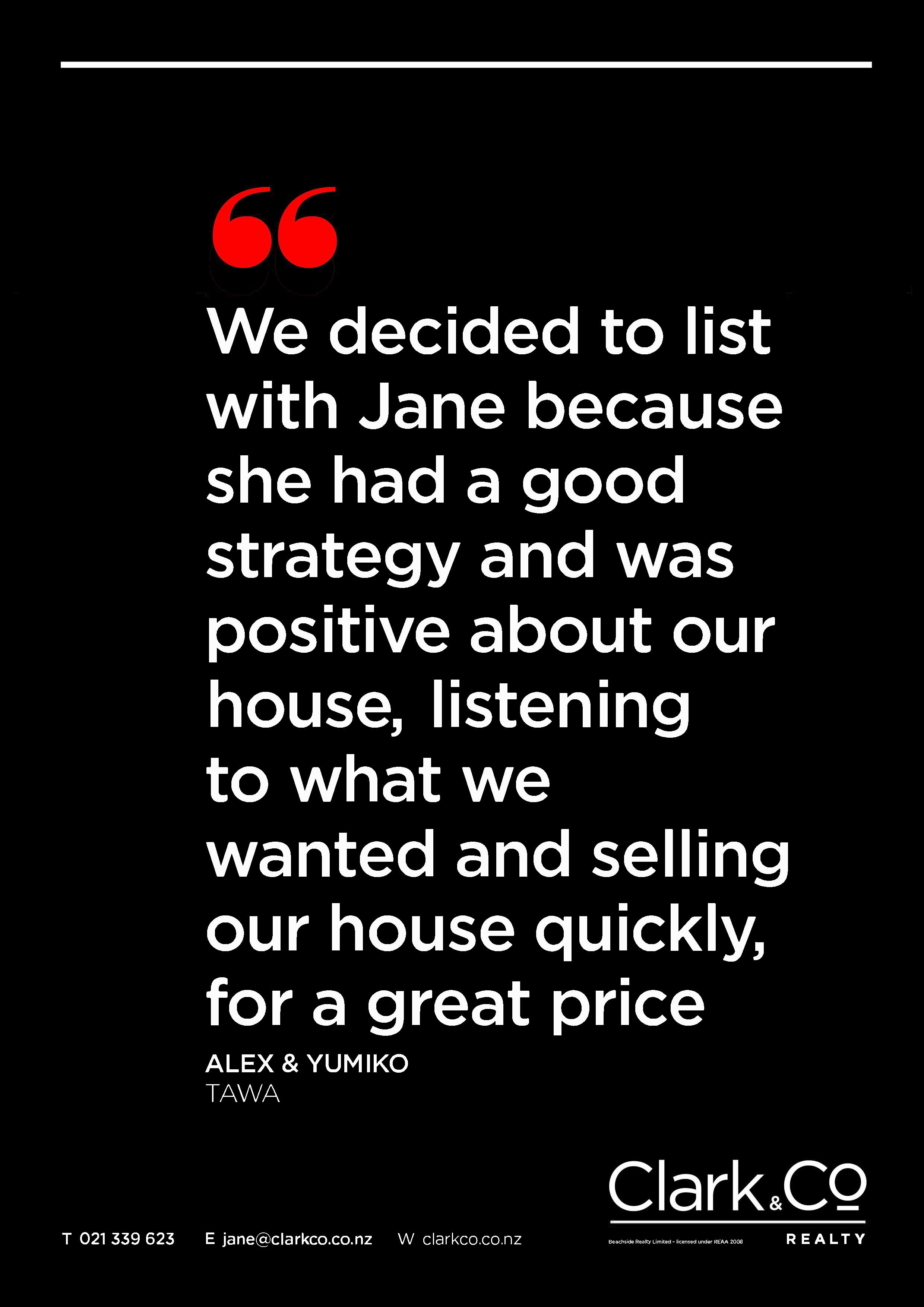 Testimonial Jane Mather